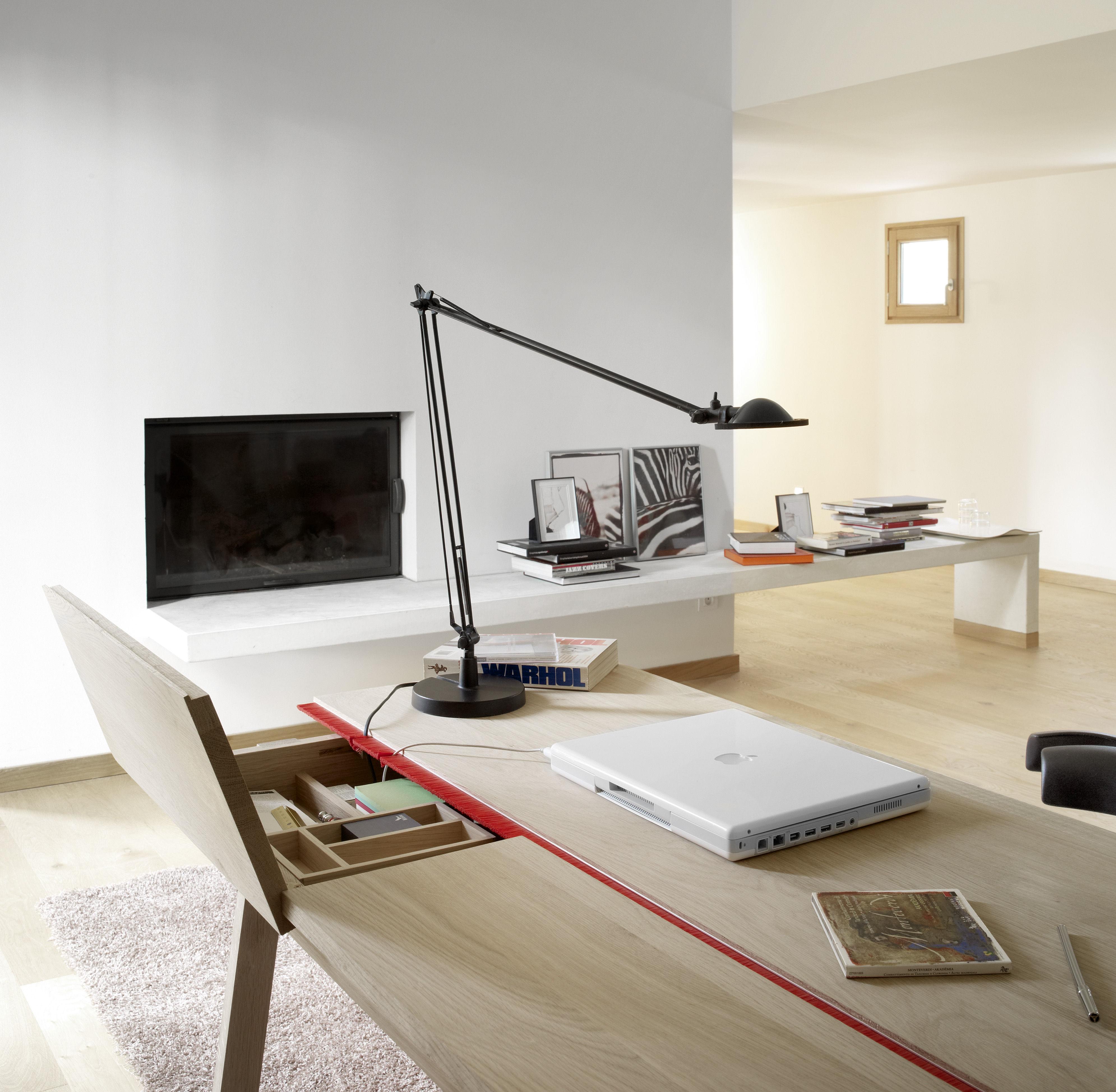 Landa Desk L 120 Cm 120 X 70 5 Cm Natural Oak By Alki