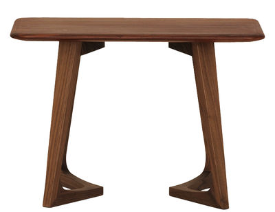 Mobilier - Tables basses - Table d'appoint Twist Night / 55 x 35 cm - Zeitraum - Noyer Americain - Noyer massif