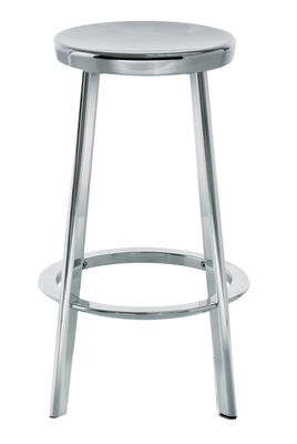 Mobilier - Tabourets de bar - Tabouret de bar Déjà-vu / H 66 cm - Métal - Magis - Aluminium - Aluminium poli, Fonte d'aluminium