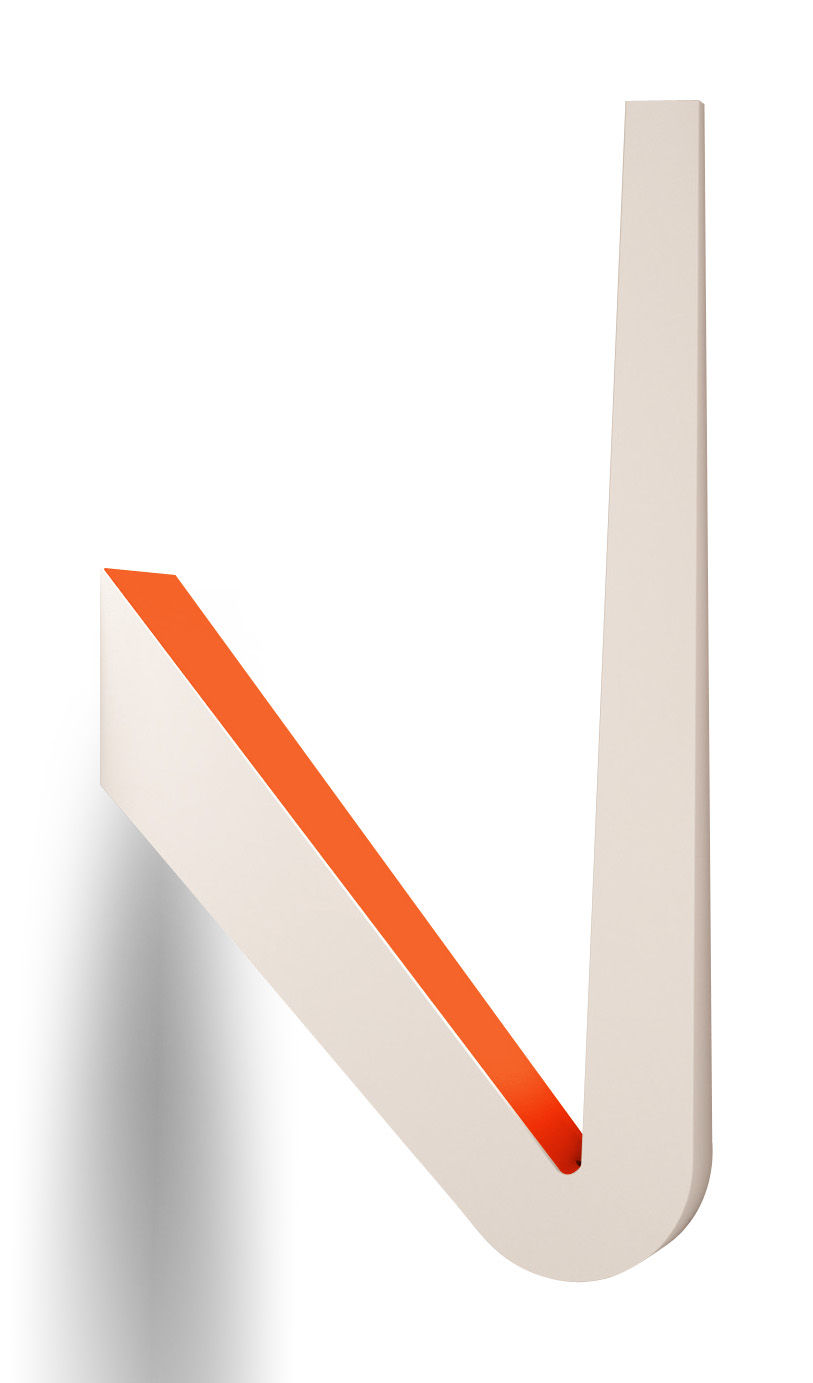 Tick W0 Wall Light Ceiling Lamp Satin White Orange