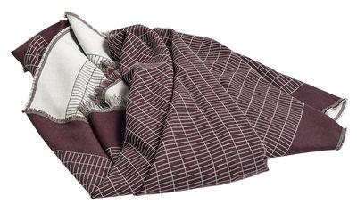 Plaid Checked Out / 190 x 130 cm - Lana - Hay bordeaux en tissu