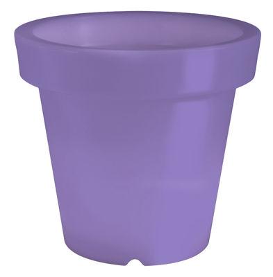 Pot de fleurs lumineux Bloom / H 40 cm - Bloom! violet en matière plastique