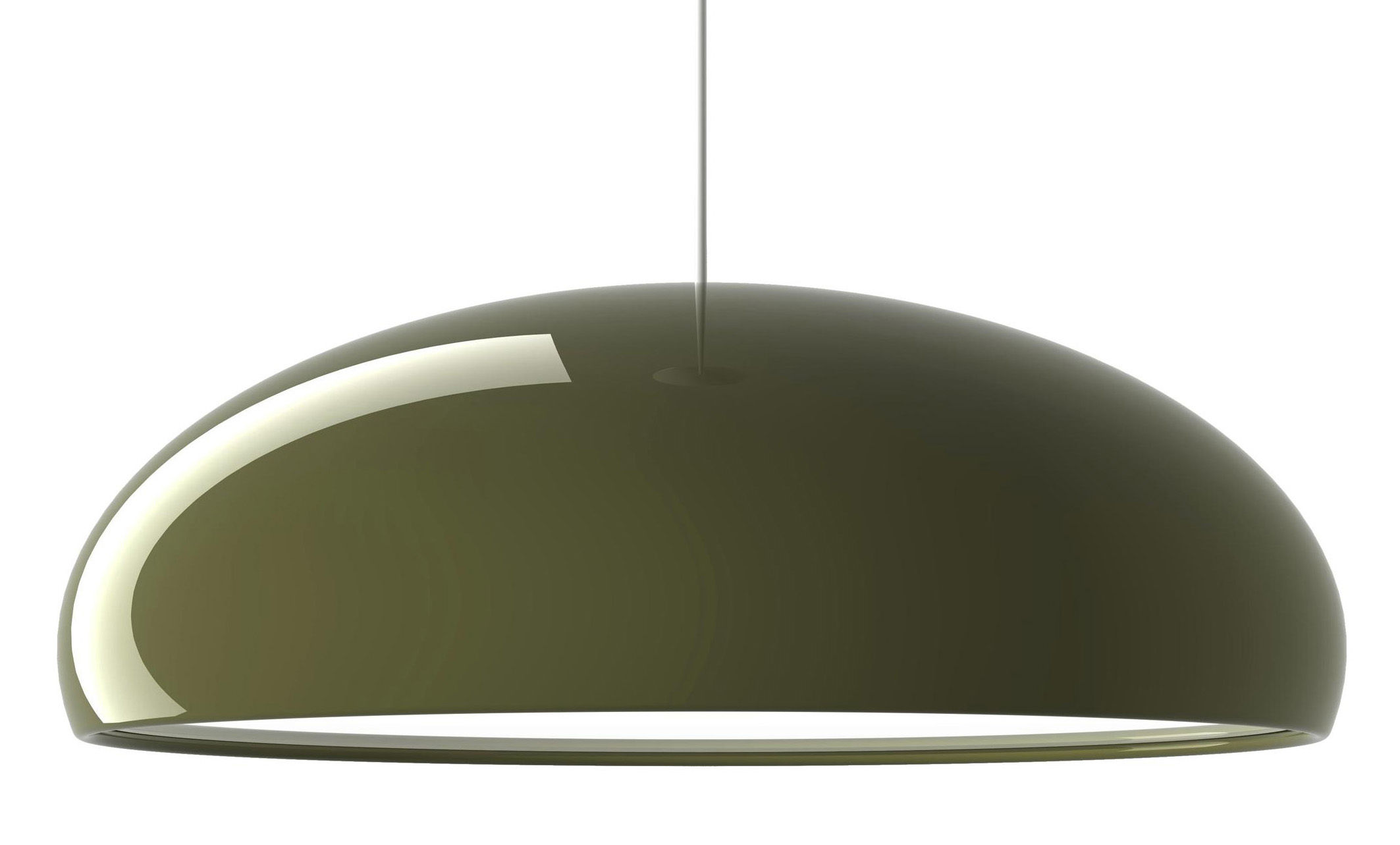 suspension pangen vert int blanc fontana arte. Black Bedroom Furniture Sets. Home Design Ideas