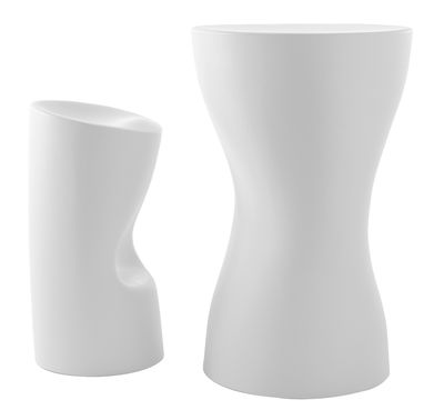 tabouret de bar tokyo pop h 70 cm plastique blanc driade made in design. Black Bedroom Furniture Sets. Home Design Ideas
