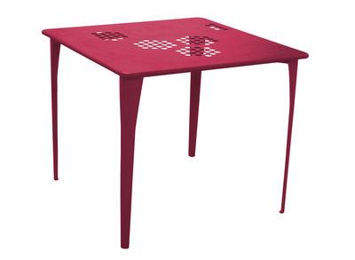 Pattern Tisch 87 x 87 cm - Emu - Rot