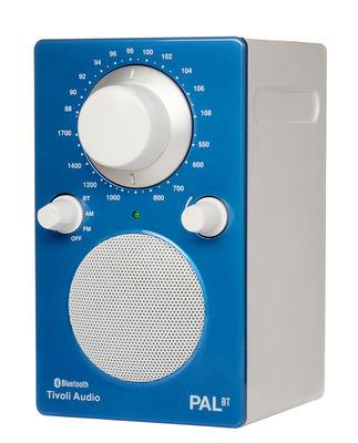 Radio Pal BT Enceinte portative Bluetooth Tivoli Audio blanc,bleu brillant en matière plastique