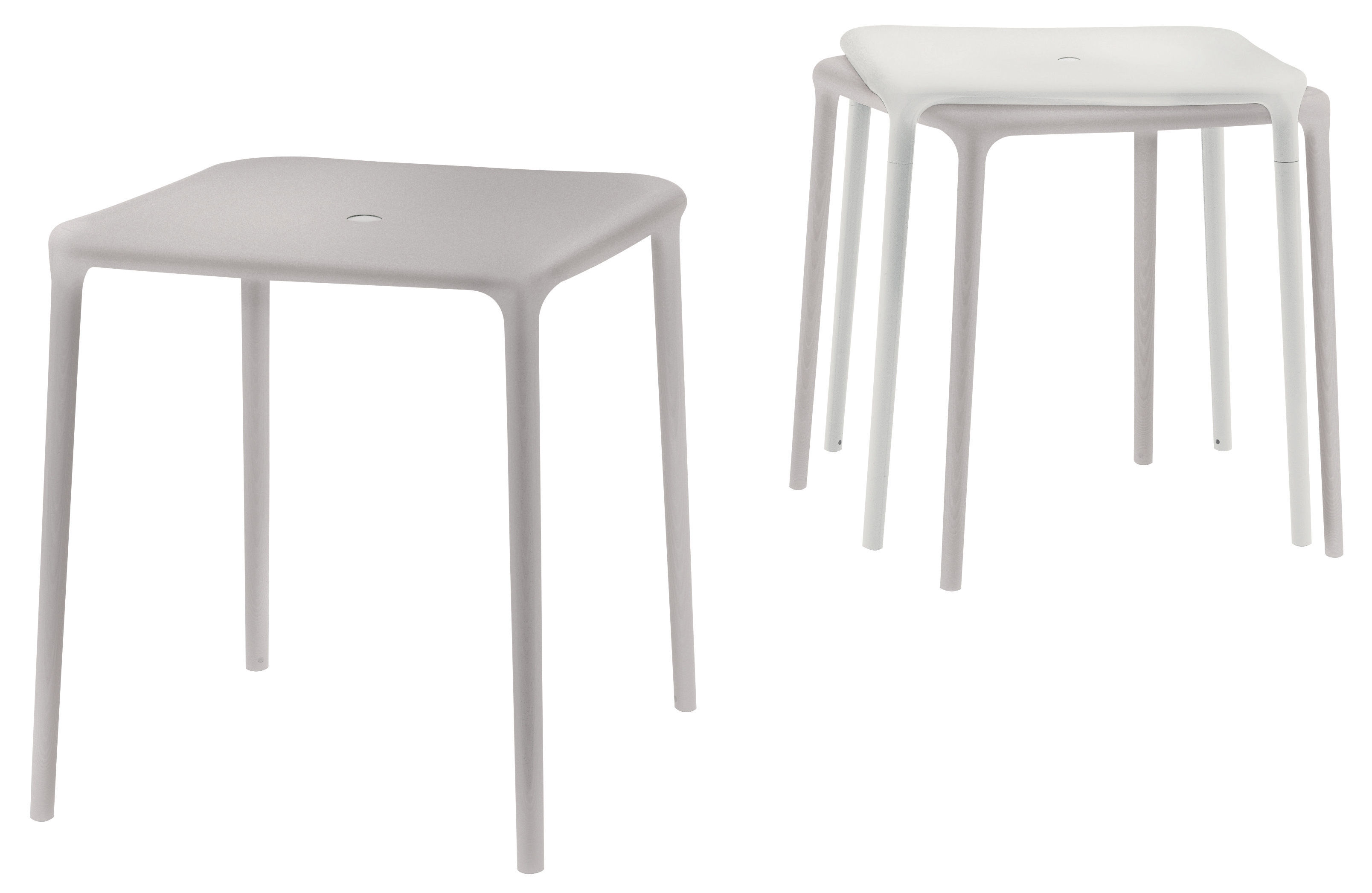 Air table garden table white 65 x 65 cm by magis for Magis table