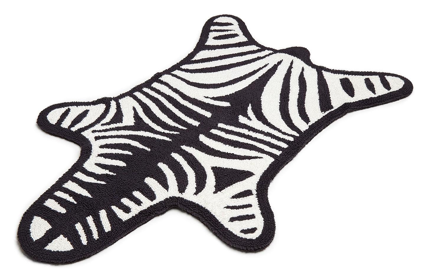 Zebra Bath Mat Reversible 112 X 79 Cm White Black By