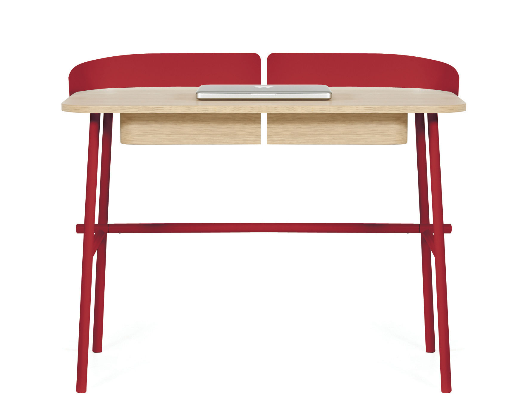 Bureau victor rouge cerise bois naturel hart for Bureau pro victo