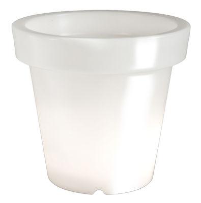 Pot de fleurs lumineux Bloom / H 40 cm - Bloom! blanc en matière plastique
