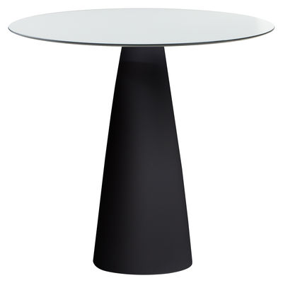 Hoplà - H 72 cm Tisch / Ø 79 cm - Slide - Weiß,Schwarz