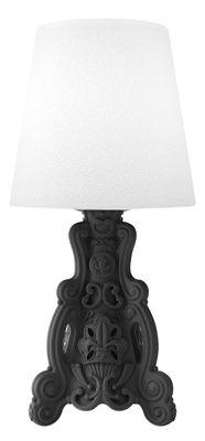 Lampe à poser Lady of Love / Pour l´intérieur - H 88 cm - Design of Love by Slide blanc,noir en matière plastique
