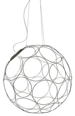 Luminaire - Suspensions - Suspension Giro Piccola LED / Ø 67 cm - Fabbian - Gris - Métal peint