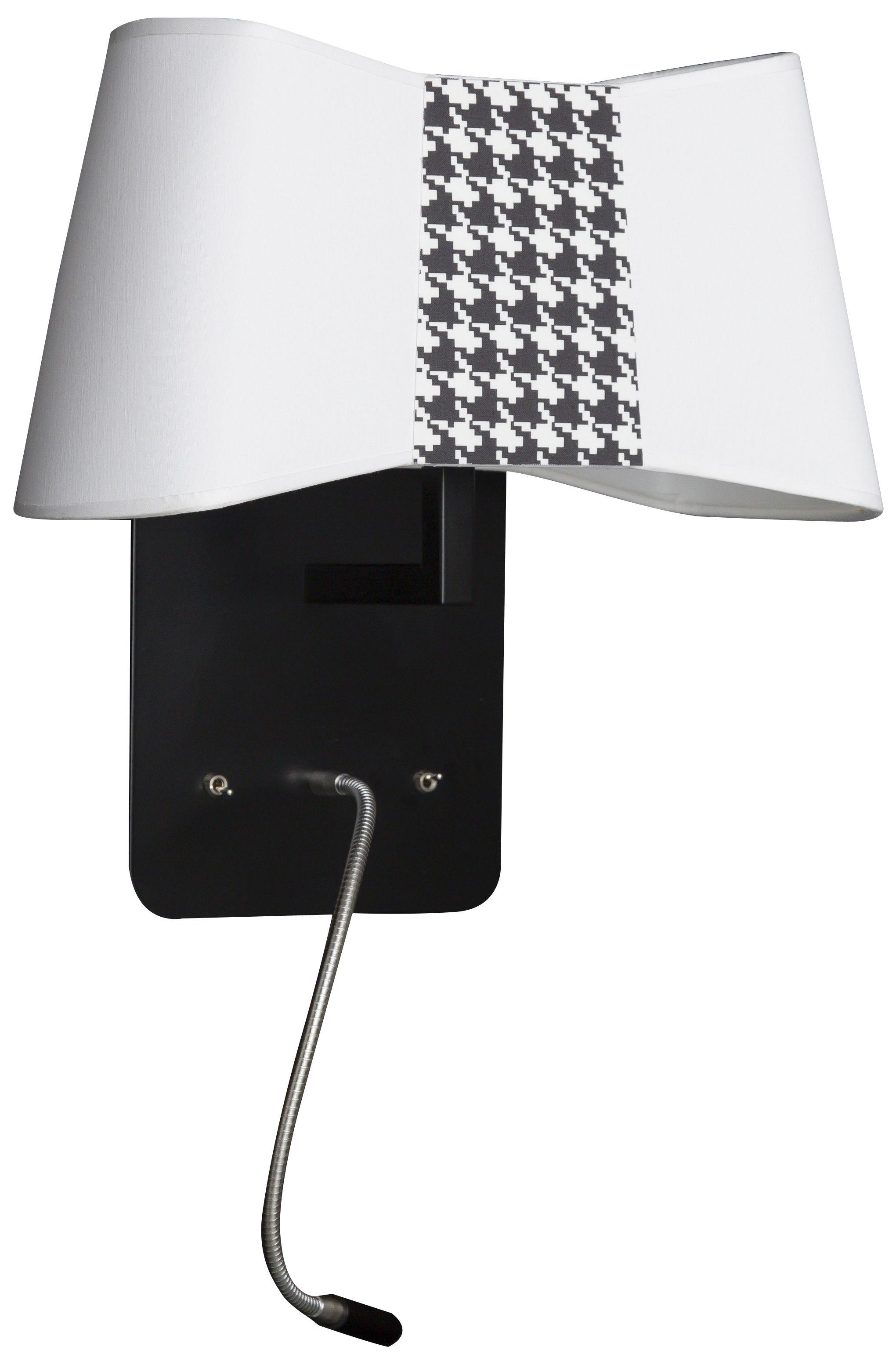 applique petit couture avec liseuse articul e led blanc. Black Bedroom Furniture Sets. Home Design Ideas