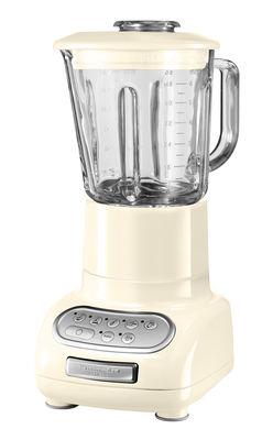 Cuisine - Electroménager - Mixeur Artisan - KitchenAid - Crème - Acier inoxydable, Métal coulé, Verre