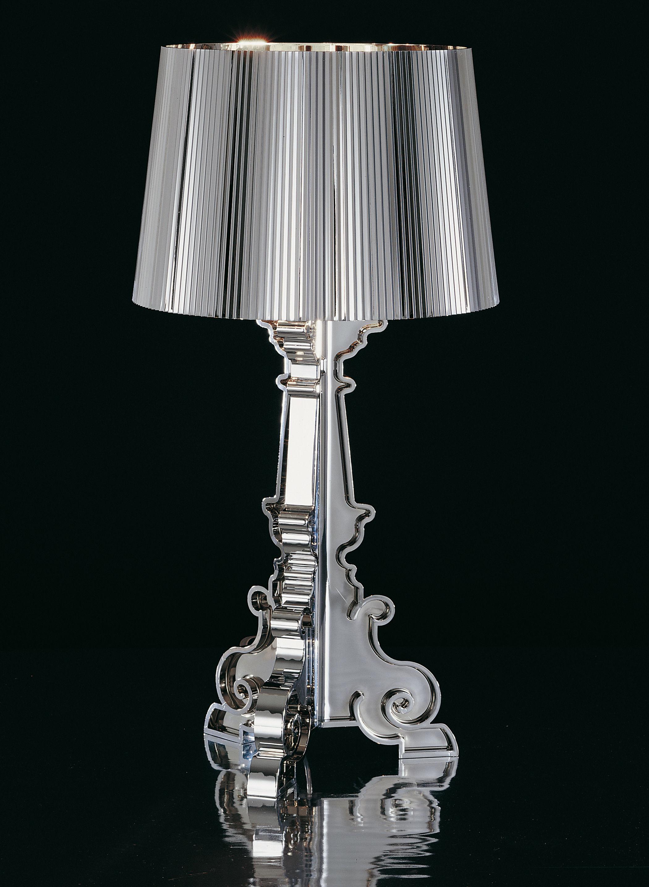 Scopri Lampada da tavolo Bourgie Chrome, Cromata di Kartell, Made In ...