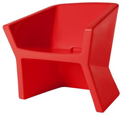 Poltrona Exofa di Slide - Rosso - Materiale plastico