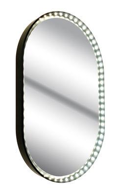 Luminaire - Suspensions - Applique Vanity Oval S / Miroir - LED - H 48 cm - Le Deun - Noir - Acier, Miroir