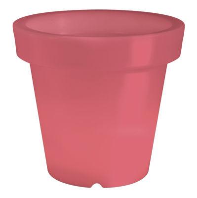 Pot de fleurs lumineux Bloom / H 60 cm - Bloom! rouge en matière plastique