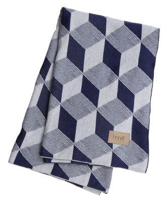 Plaid Squares / 150 x 120 cm - Ferm Living bleu,argent en tissu