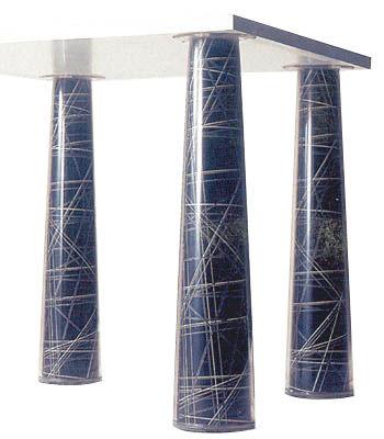 Arredamento - Mobili Ados  - Decorazione n°7 - Per piedi del tavolo Flare - Set di 4 di Magis - Decorazione N°7 - Carta plastificata