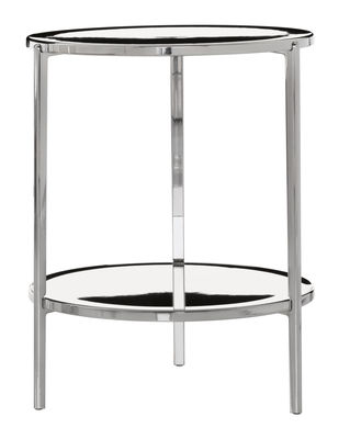 Tavolino Tambour - H 65 cm di Magis - Alluminio lucido - Metallo