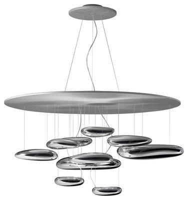 Luminaire - Suspensions - Suspension Mercury / LED - Ø 110 cm - Artemide - Chromé - LED - Aluminium, Aluminium satiné, Thermoplastique