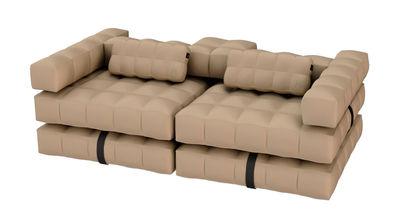 Divano gonfiabile Modul'Air / Convertibile in lettino prendisole galleggiante - L 234 cm - Sabbia - Materiale plastico
