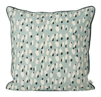 Coussin Spotted / 50 x 50 cm - Ferm Living bleu ciel,blanc cassé,vert sapin en tissu