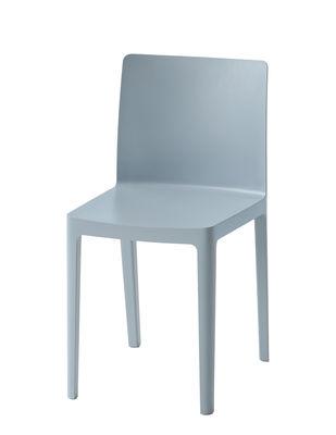 Chaise empilable Elementaire Hay bleu gris en matière plastique