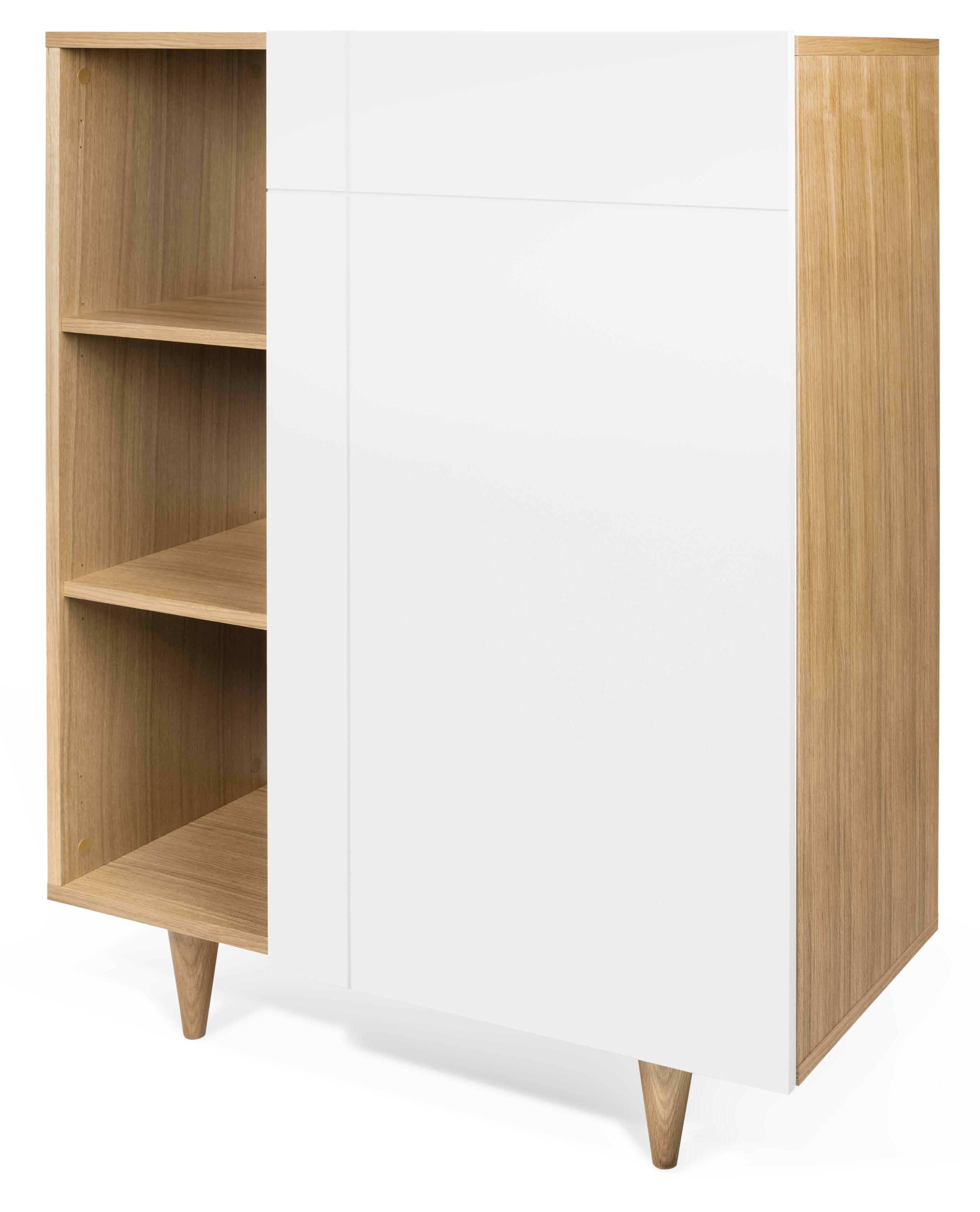 vaisselier slide l 90 x h 120 cm blanc ch ne pop up home made in design. Black Bedroom Furniture Sets. Home Design Ideas