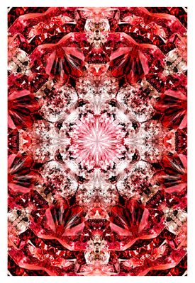 Déco - Tapis - Tapis Crystal Fire / 300 x 200 cm - Moooi Carpets - Tons rouges - Polyamide