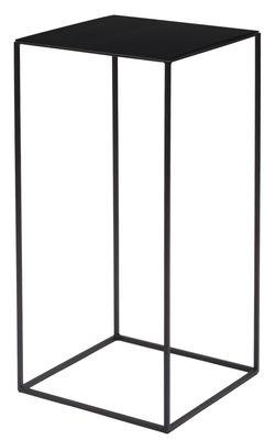 Table basse Slim Irony / 31 x 31 x H 64 cm - Zeus noir cuivré en métal