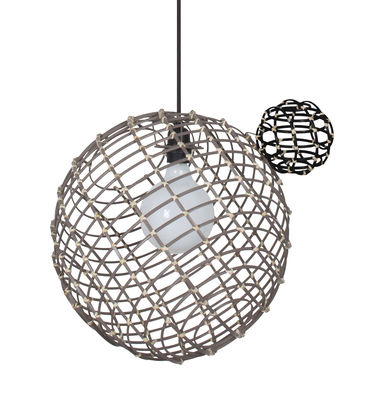 Sphere Large Pendelleuchte / Bambus - Ø 40 cm - Forestier - Taupe