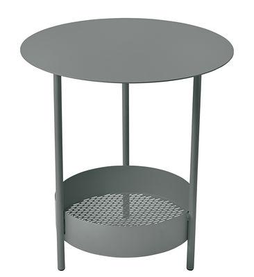 Foto Tavolino con piede centrale Salsa / Ø 50 x H 50 cm - Fermob - Rosmarino - Metallo Tavolino rotondo