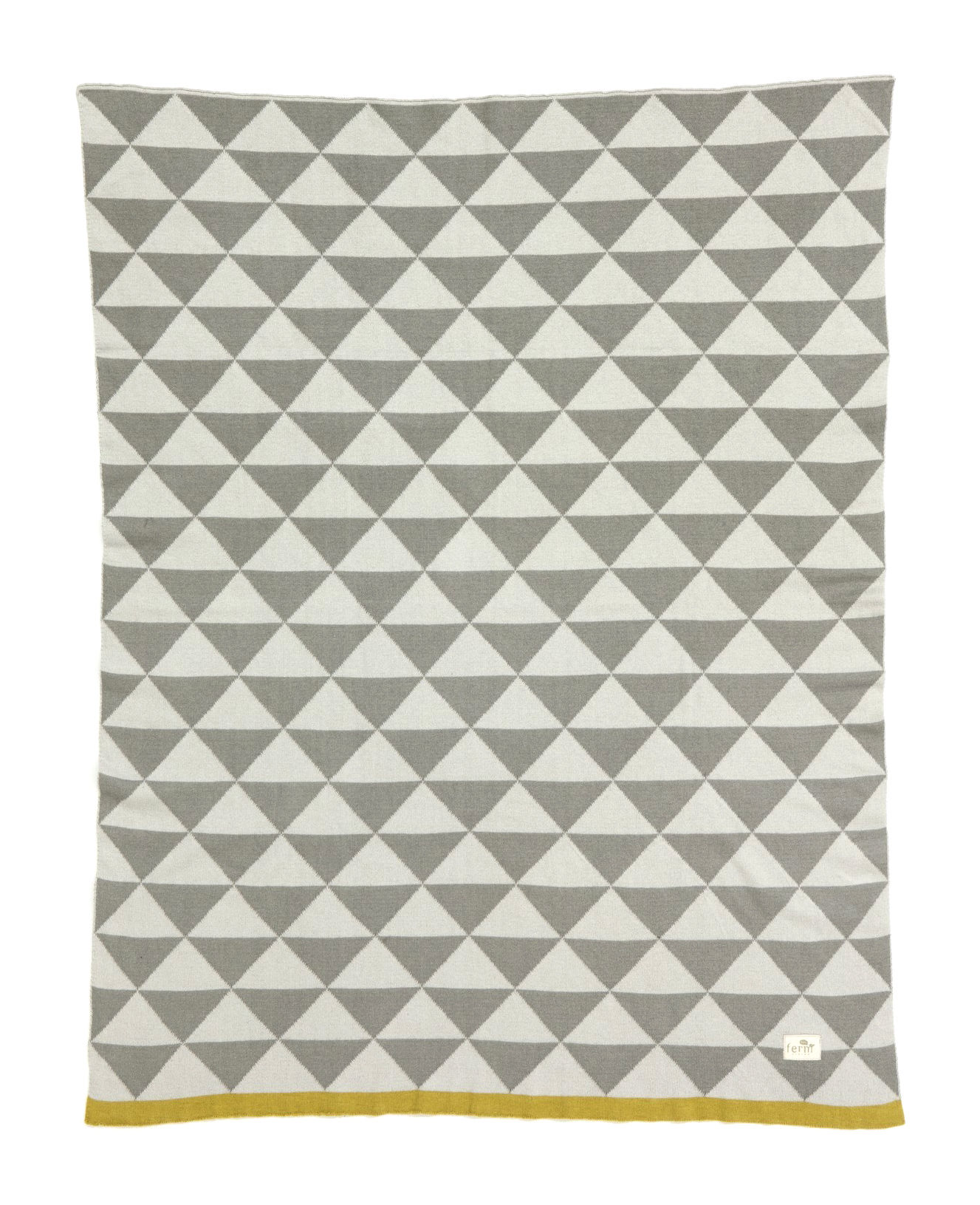 couvre lit little remix pour enfant 100 x 80 cm gris jaune ferm living. Black Bedroom Furniture Sets. Home Design Ideas