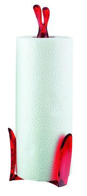 Cuisine - Pratique & malin - Porte-rouleau essuie-tout Roger - Koziol - Rouge transparent - Matière plastique