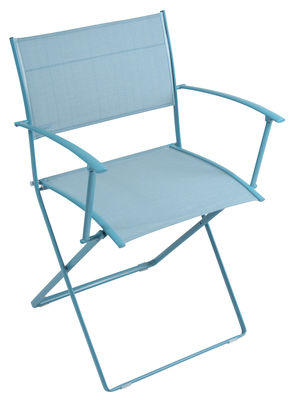 Fauteuil pliant Plein Air / Toile Turquoise - Fermob | Made In Design