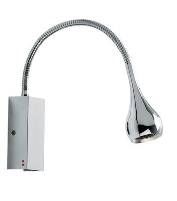 Illuminazione - Lampade da parete - Applique Bijou - LED di Fabbian - Chrome - Réflecteur goutte - Metallo cromato