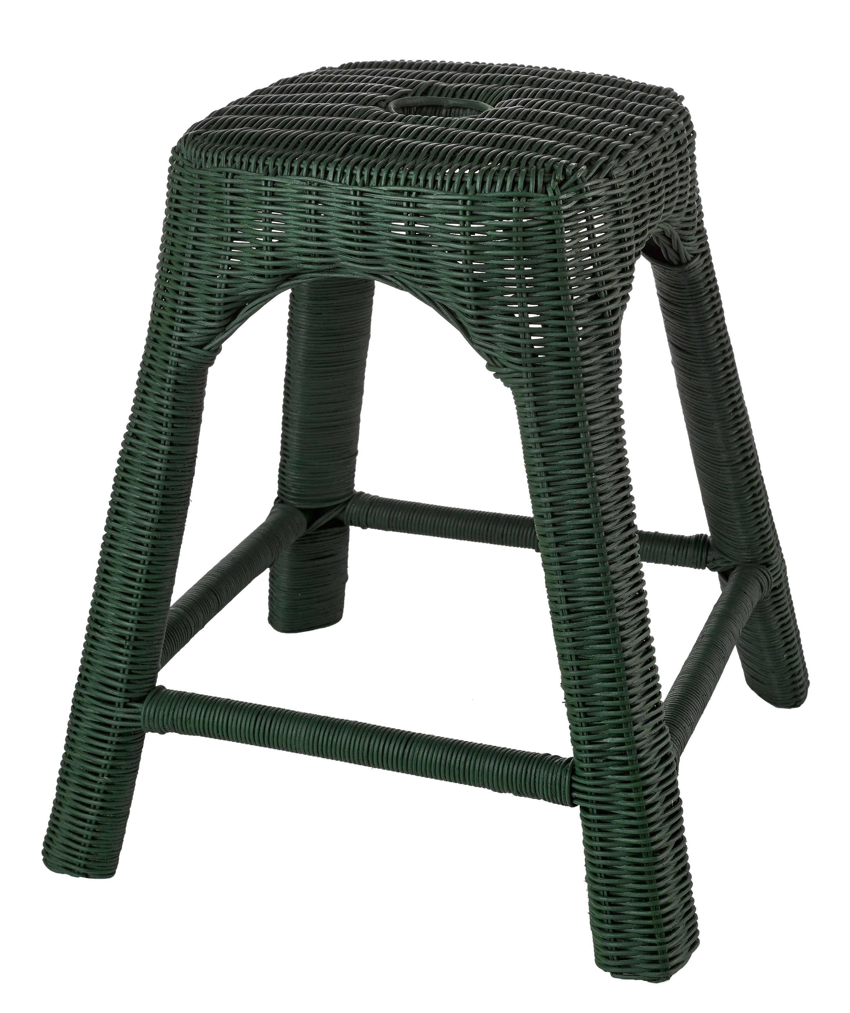 tabouret bakso osier vert bouteille pols potten made in design. Black Bedroom Furniture Sets. Home Design Ideas