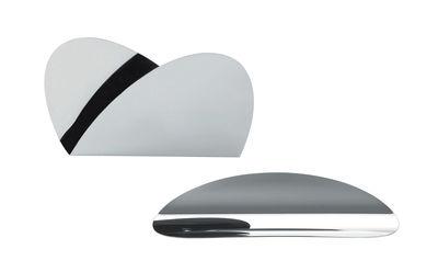 Set Ellipse pour bureau 1 plateau 1 porte enveloppes Alessi acier brillant en métal