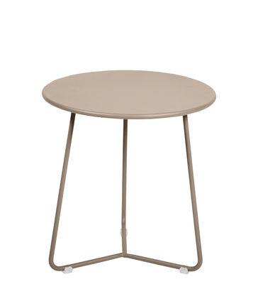 Table d'appoint Cocotte Tabouret Ø 34 x H 36 cm Fermob muscade en métal