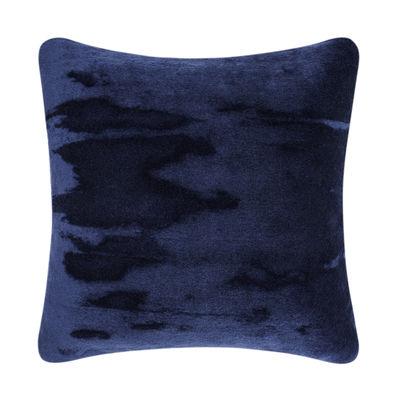 Déco - Coussins - Coussin Soft / Velours - 45 x 45 cm - Tom Dixon - Bleu - Coton, Plumes de canard, Velours mohair