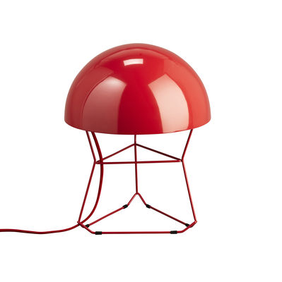 lampe de table dom small h 34 cm rouge forestier. Black Bedroom Furniture Sets. Home Design Ideas