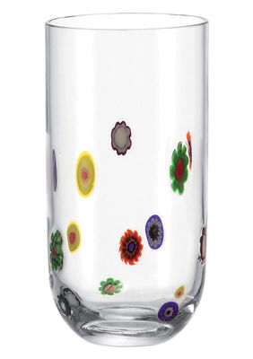 Tableware - Wine Glasses & Glassware - Millefiori Long drink glass by Leonardo - Floral pattern - Glass