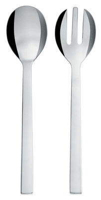Mother's Day - Gastronome & Gourmet - Santiago Salad servers by Alessi - Polished steel - Polished stainless steel