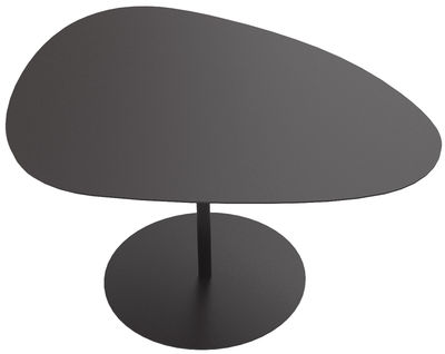 Tavolino 3 Galets - / 58 x 75 - H 39,4 cm di Matière Grise - Nero - Metallo