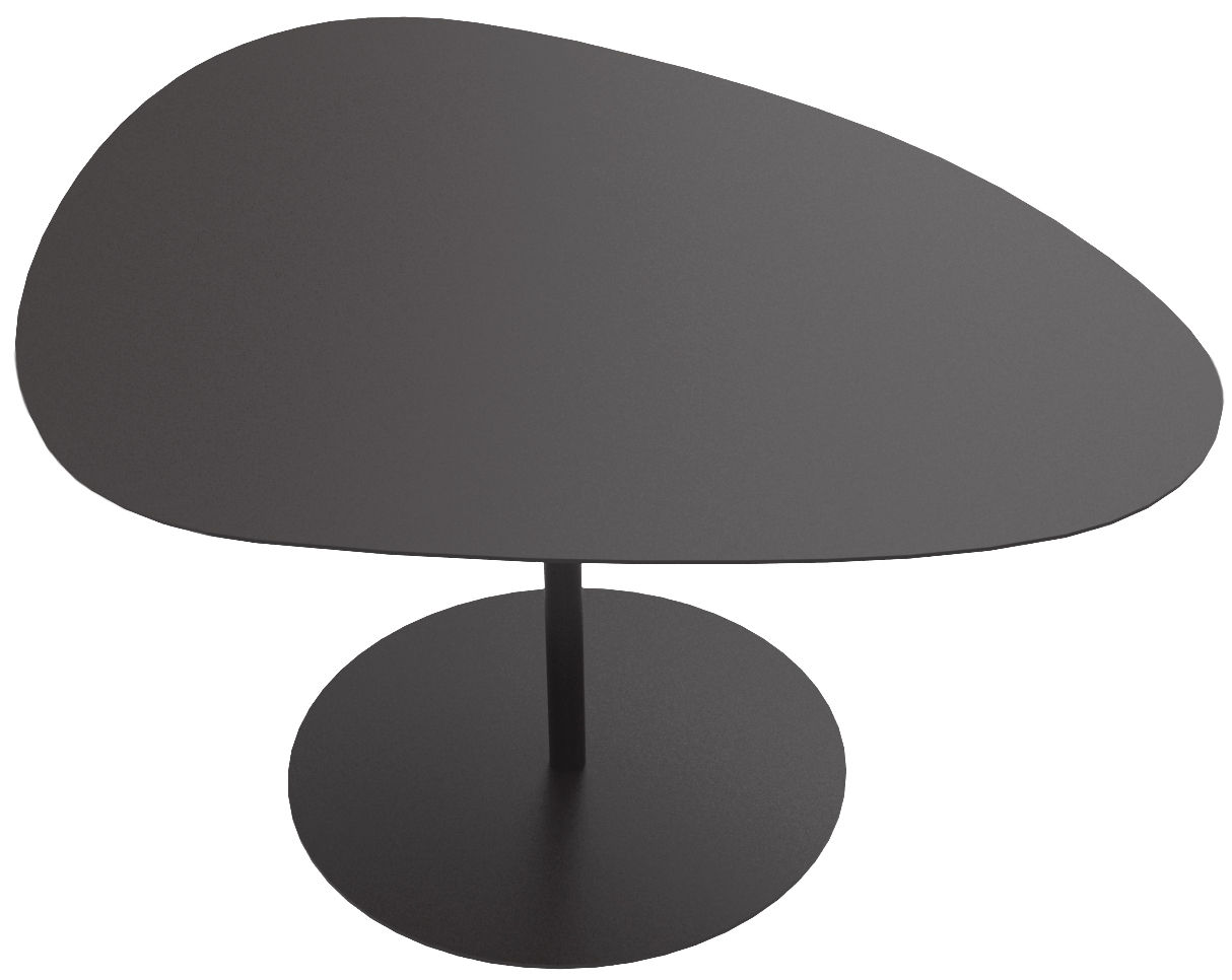 3 galets coffee table black by mati re grise for Table basse forme galet