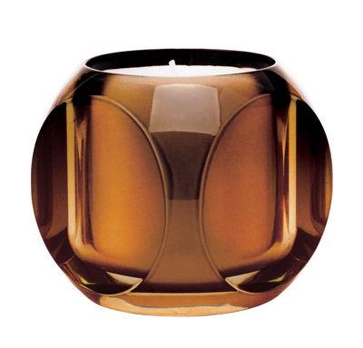 Bougie parfumée Dice / Kartell Fragrances - H 7,5 cm - Kartell ambre en matière plastique