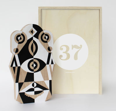 Coffret Designerbox 37 Planche à découper Totem Leslie David Designerbox blanc,noir,hêtre naturel en bois